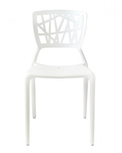 TIG Table and Set of 4 Kriss Kross Chairs – White