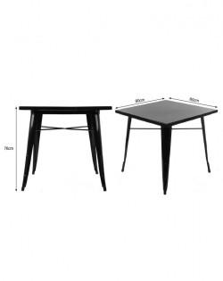 Amelie Table – Matt Black/Ash Wood Top