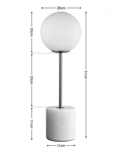 Marble Globe Table Lamp – Top
