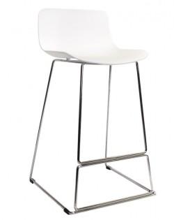 Zen Barstool 65 cm – White/Chrome