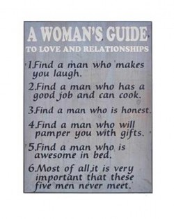 Wall Plaque: 'A WOMANS GUIDE'