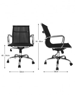 Bureau Low Back Mesh Office Chair – Black
