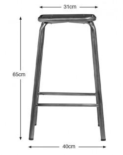 Ecole Bistro Barstool 65cm – Gunmetal
