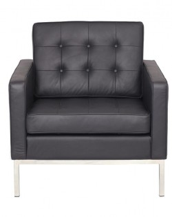 Replica Florence Knoll Armchair – Black Leather