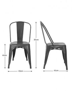 Amelie Chair – Matt Black