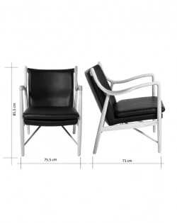 Odin Armchair – Brown Leather / Ash Wood