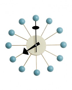 Replica George Nelson Ball Wall Clock – Blue