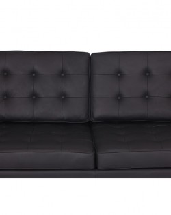 Replica Florence Knoll 2 Seater Sofa – Black Leather