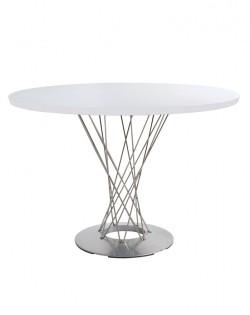 Replica Isamu Noguchi Cyclone Dining Table – White/Brushed Steel