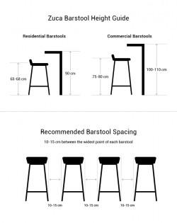 Replica Jean Prouve Standard Stool – Black/75cm