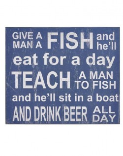 Wall Plaque: 'GIVE A MAN A FISH'
