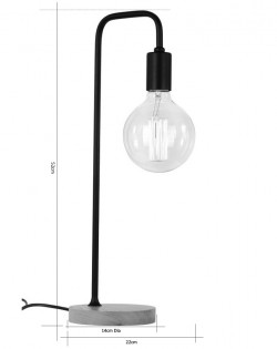 Elementary Table Lamp – Black/Wood