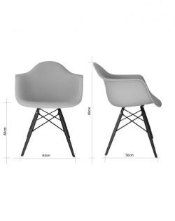Eiffel Rod Armchair – White