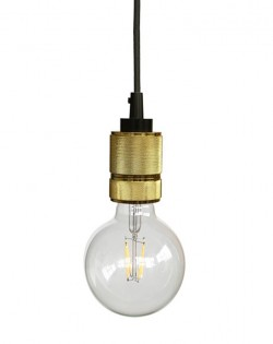 Modern Hanging Bulb – Gold