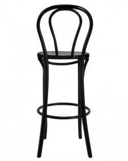 Vienna Bentwood Barstool 75cm – Black