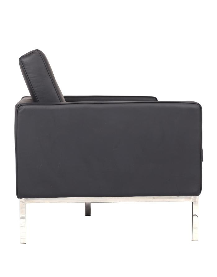 Replica Florence Knoll 2 Seater Sofa U2013 Black Leather