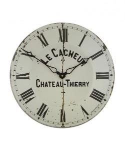 French Café Chateau Enamel Wall Clock