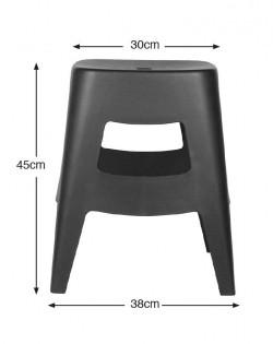 Torre Stool 45cm – Black