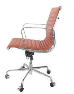 Group Ribbed Low Back Office Chair – Tan