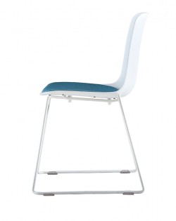 Valentina Chair – White/Aqua Cushion