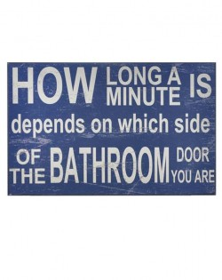 Wall Plaque: 'HOW LONG A MINUTE'