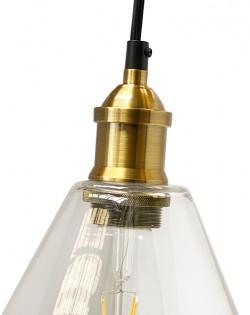Conic Glass Pendant – Brass fitting