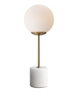 Globe Top Table Lamp – White Marble
