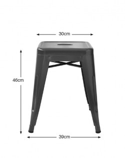 Amelie Stool 46cm – Matt Black