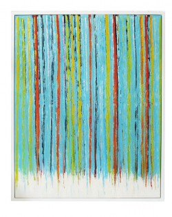 Blue Multi Stripe Painting