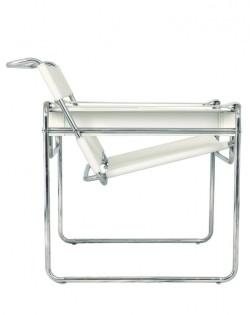 Replica Wassily Chair – Premium Italian Leather – White