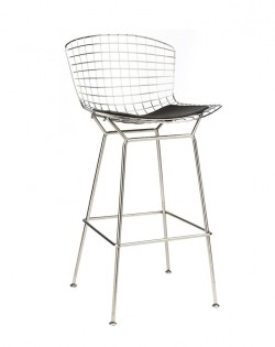Replica Harry Bertoia Barstool 76 cm – Black Seat