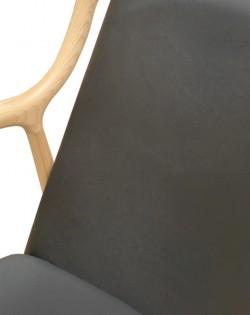 Odin Armchair – Leather Black / Ash Wood