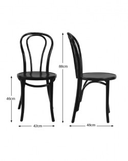 Vienna Bentwood Chair – Black
