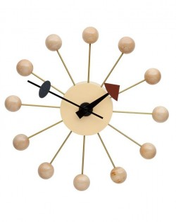 Replica George Nelson Ball Wall Clock – Natural