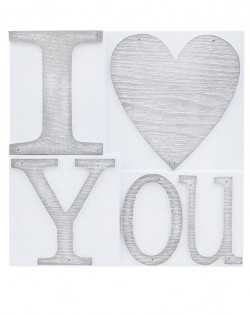 Wall Plaque: 'I LOVE YOU'