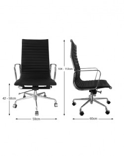 Group Ribbed High Back Office Chair – Black
