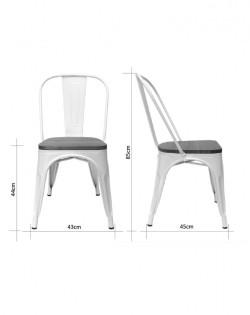 Amelie Chair – Matt White / Natural Elm Wood