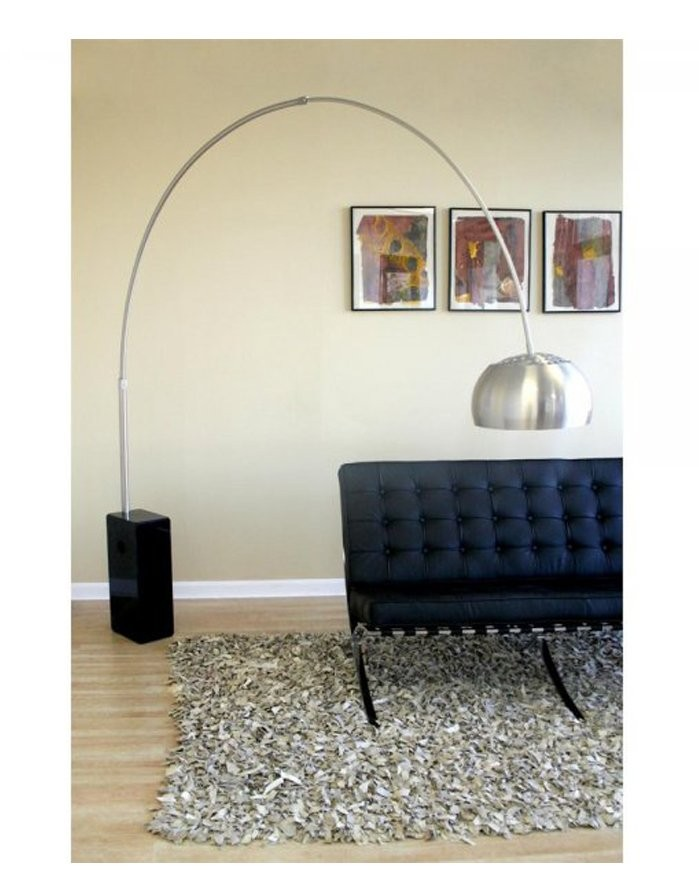 replica achille castiglioni arco lamp black marble zuca. Black Bedroom Furniture Sets. Home Design Ideas