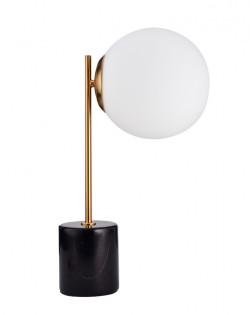 Globe Side Table Lamp – Black Marble