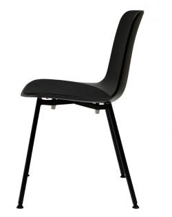 Leo Chair – Black / Black Cushion