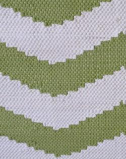 Chevron Rug – Ivory/Green 160 x 230cm