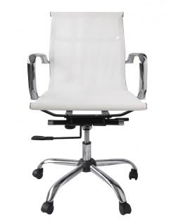 Bureau Low Back Mesh Office Chair – White