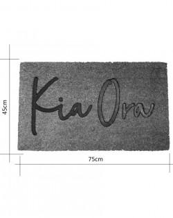 DOORMAT – KIA ORA – kowhai yellow