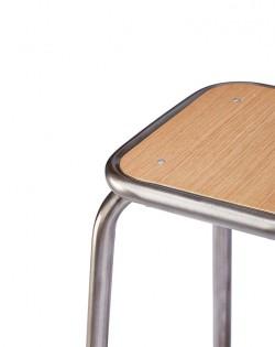 Ecole Bistro Barstool 65cm – Gunmetal/Natural Top