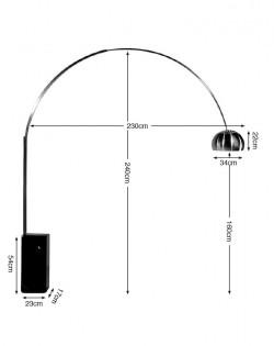 Arch Floor Lamp – Black Marble