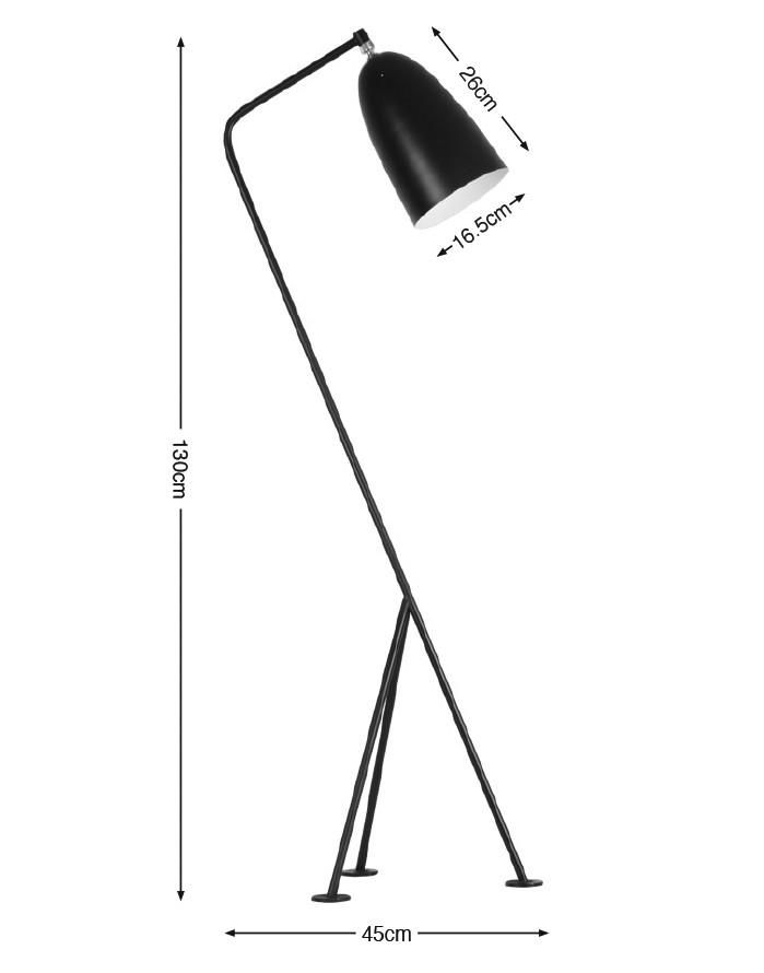 Replica Grasshopper Floor Lamp – Black [Zuca]