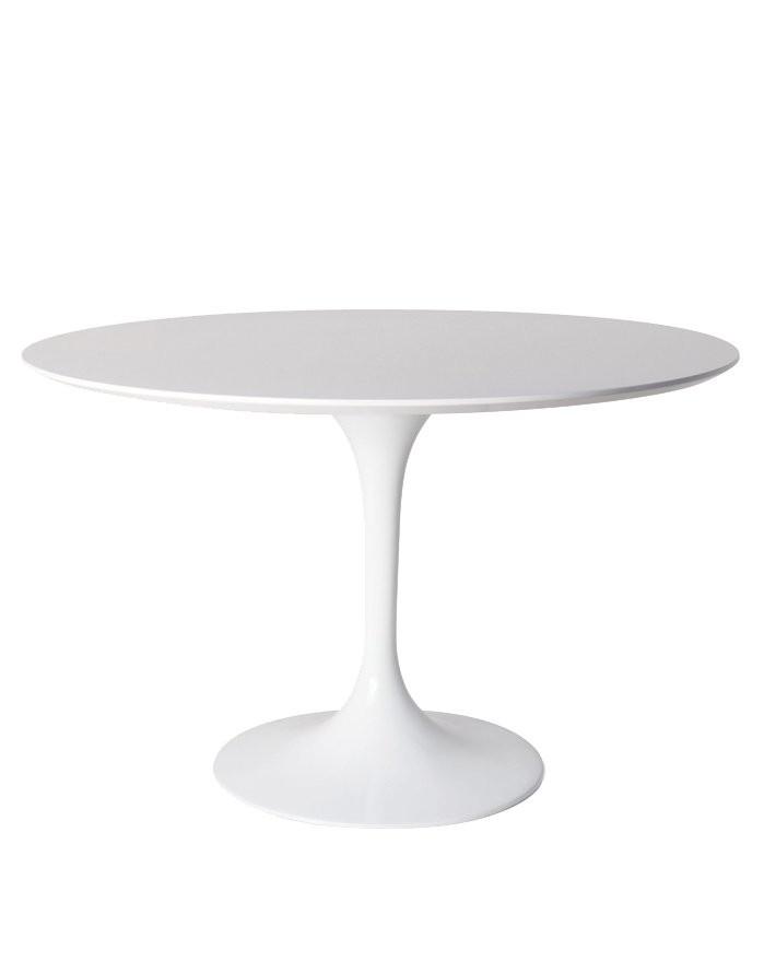 Replica Eero Saarinen Tulip Dining Table White Wood