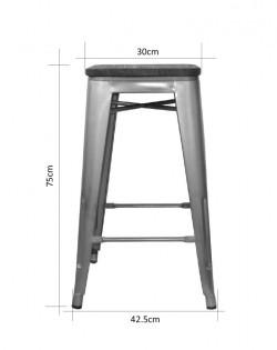 Amelie Stool 75cm – Industrial/Dark Elm Wood
