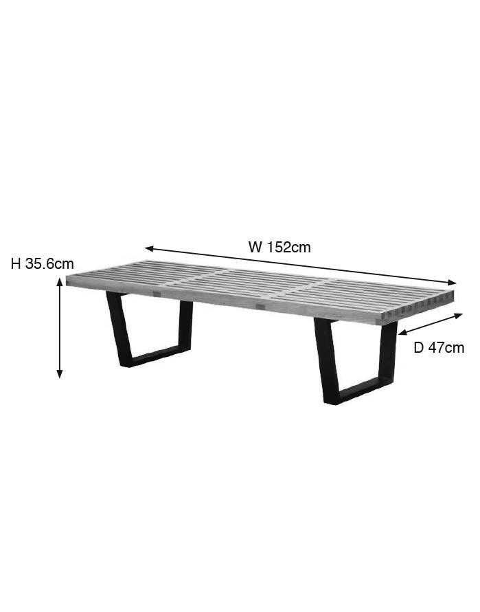Sensational Replica George Nelson Platform Bench Medium Zuca Gmtry Best Dining Table And Chair Ideas Images Gmtryco
