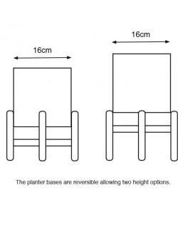 Indoor Planter – White/Black – Set of 2